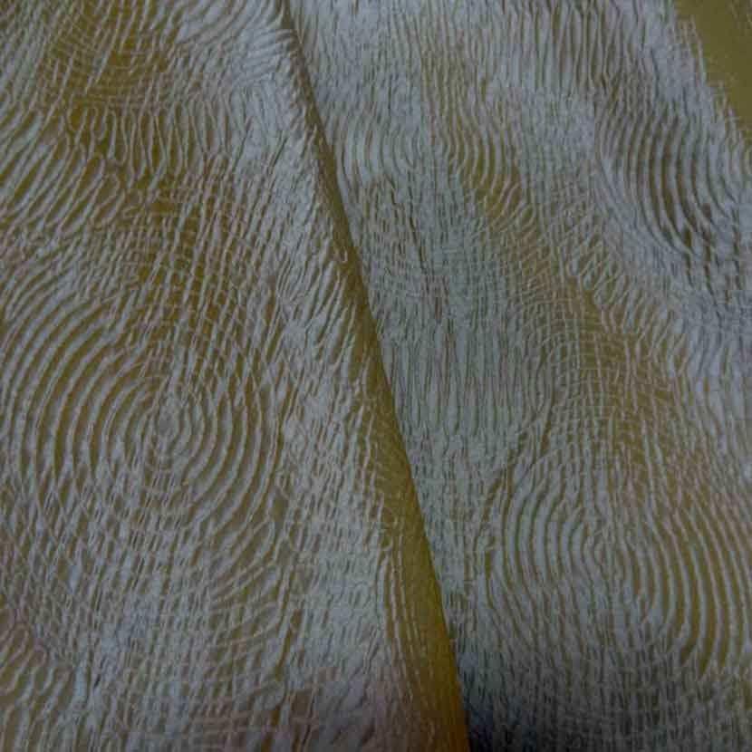 2 30m de soie 100 changeant faconne dore reflets bleu glacier