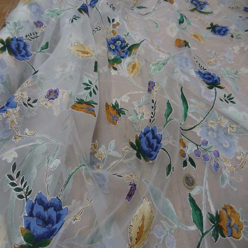5m de voile imprime fleurs en 2 70m de l plombe