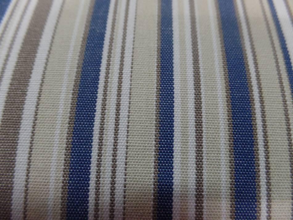 Achat bache d exterieur en teflon a rayure blanc beige bleu et taupe sur marseille
