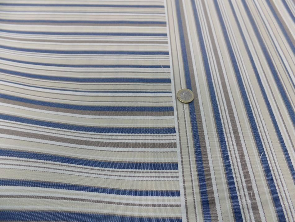 Achat bache d exterieur en teflon a rayure blanc beige bleu et taupe