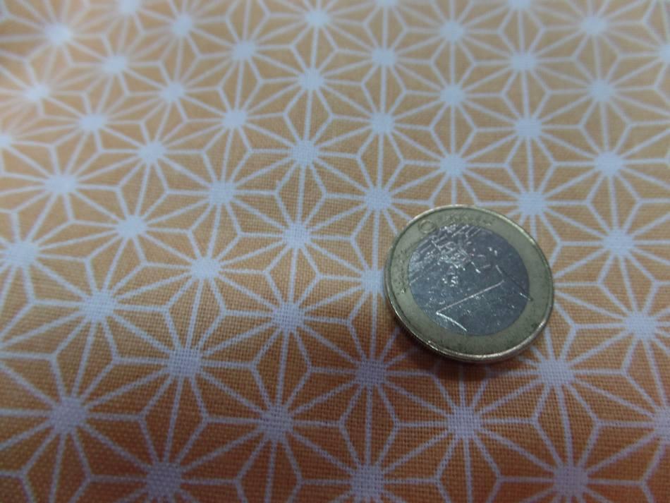 Achat tissu coton 100 cretonne imprime geometrique jaune safran et blanc en 1 45m de l sur marseille