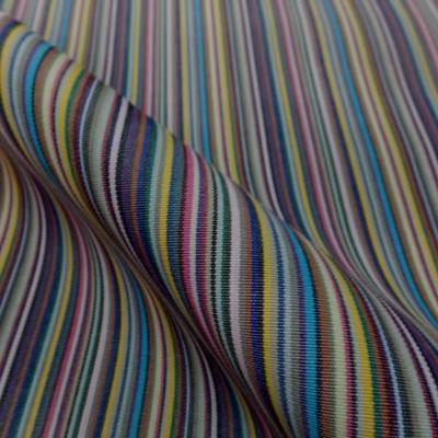 Bache a fine rayures 4 saisons en teflon ton jaune bleu gris rose noir blanc violet en 1 60m