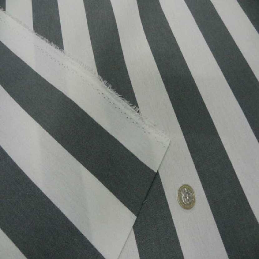 Bache a rayure blanche et grise en teflon en 1 60m7