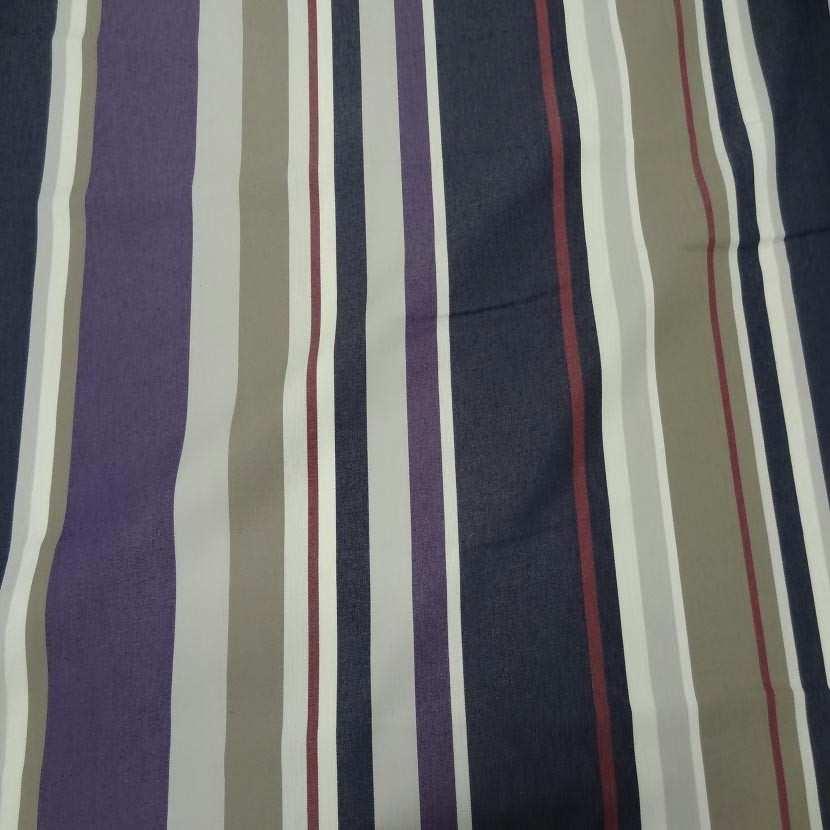Bache beige raye bleu taupe blanc violet rouge