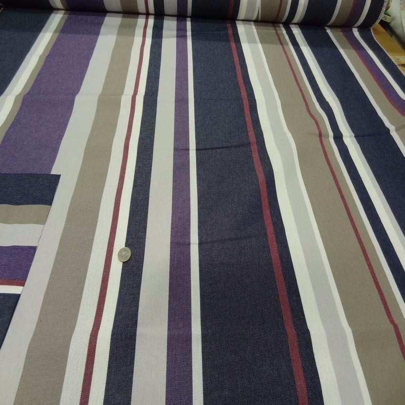 Bache beige raye bleu taupe blanc violet rouge0