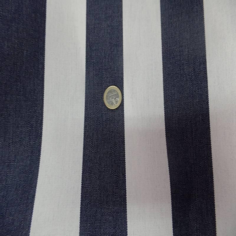 Bache raye blanc bleu fonce 4 saisons en teflon 4