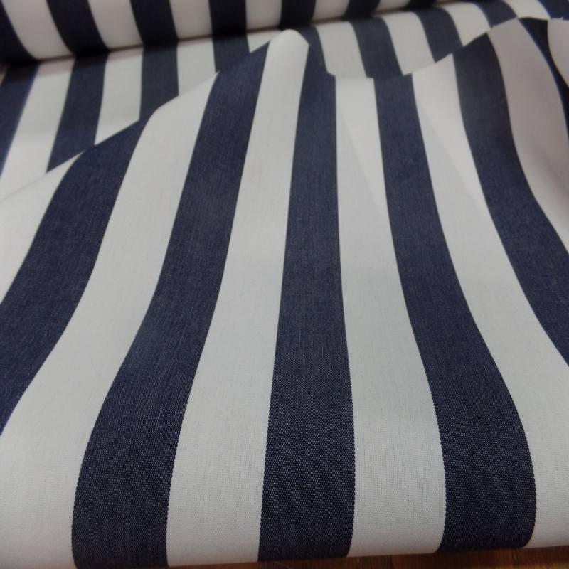 Bache raye blanc bleu fonce 4 saisons en teflon 9