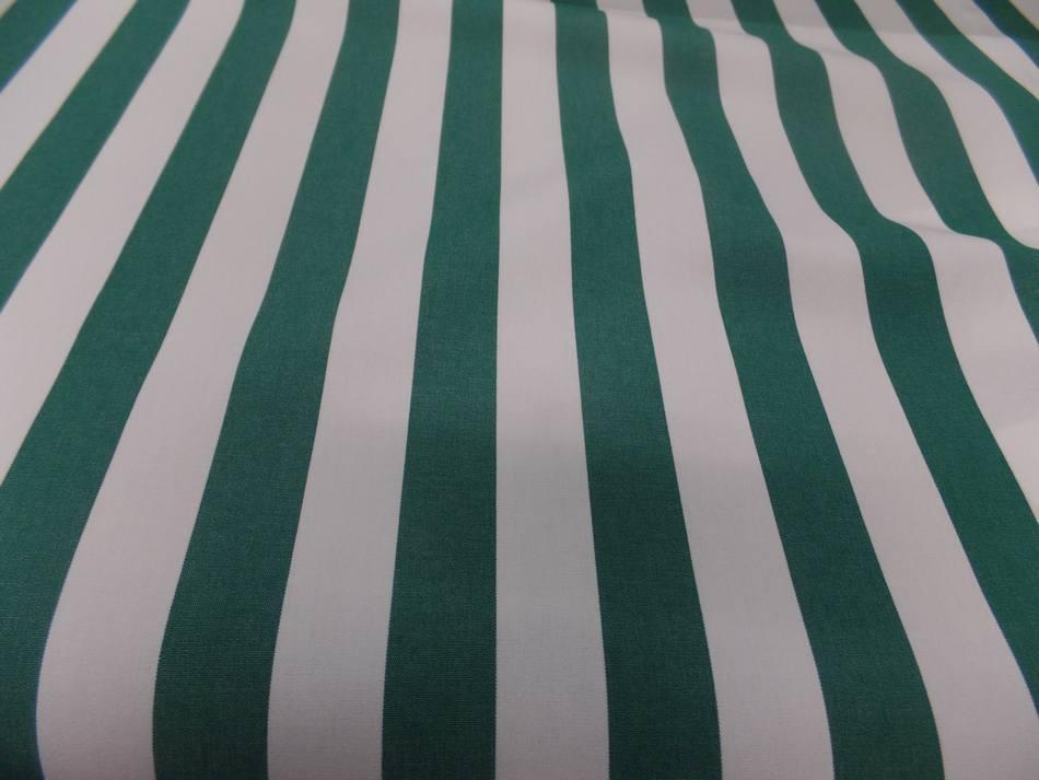 vente Toile de store bâche rayé blanc vert 4 saisons en téflon en ligne