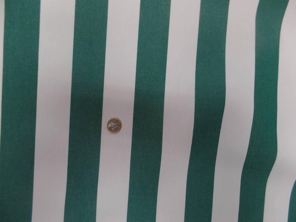 achat Toile de store bâche rayé blanc vert 4 saisons en téflon en 1.60m