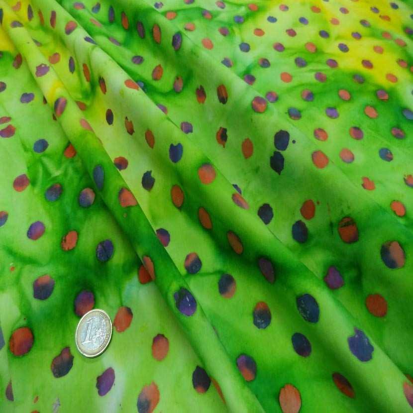 Batik camaieu de vert imprime des 2 faces3