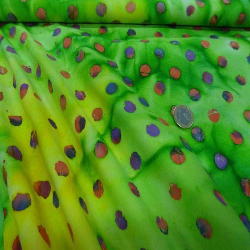 Batik camaieu de vert imprime des 2 faces4