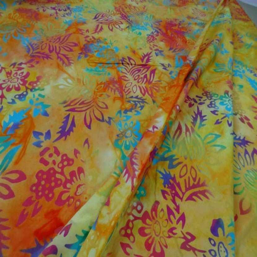 Batik motif fondu ton rouge jaune orange vert bleu6