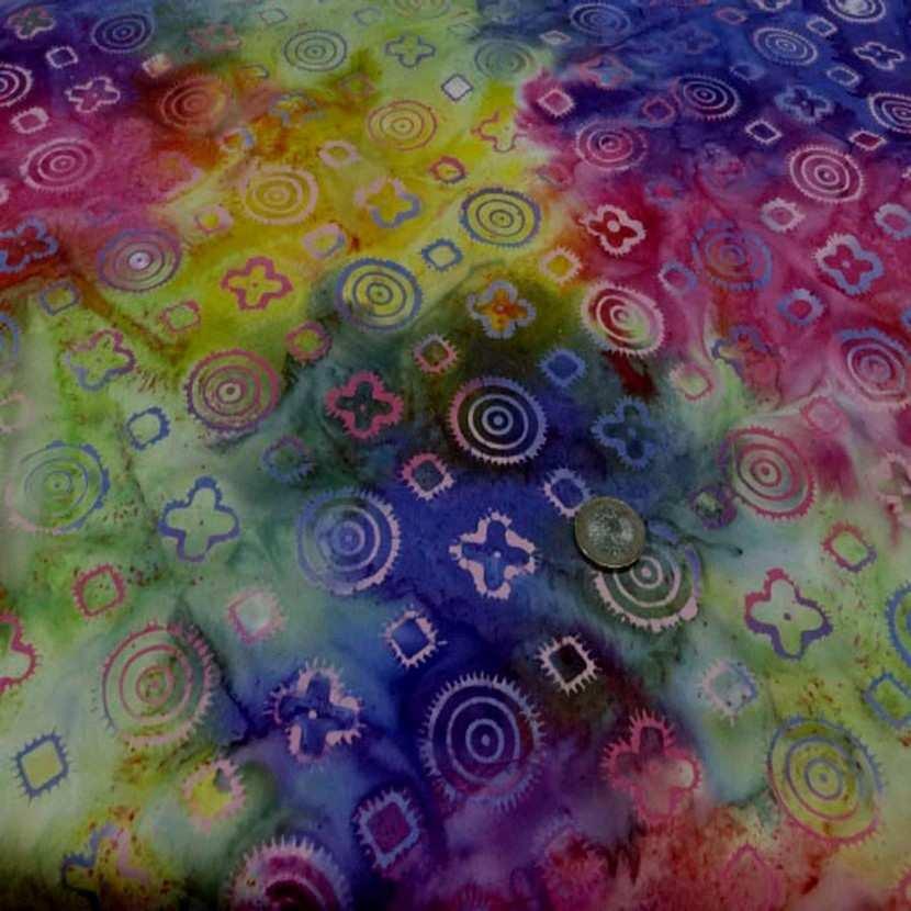 Batik motif fondu ton rouge jaune vert bleu1