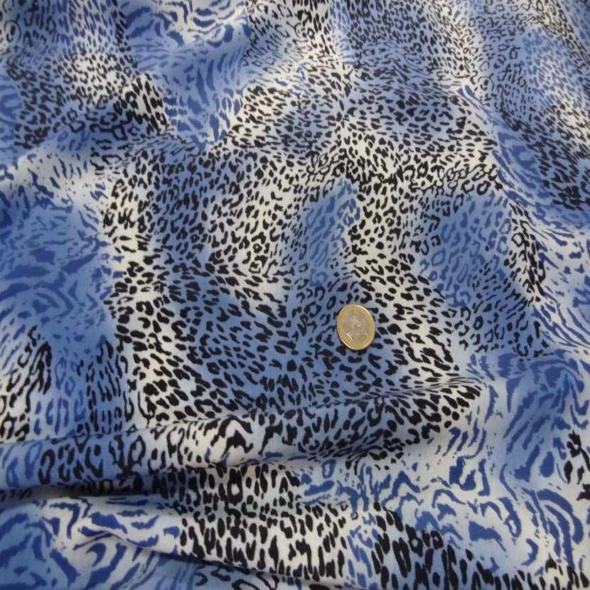 Belle microfibre imprime bleu blanc noir1