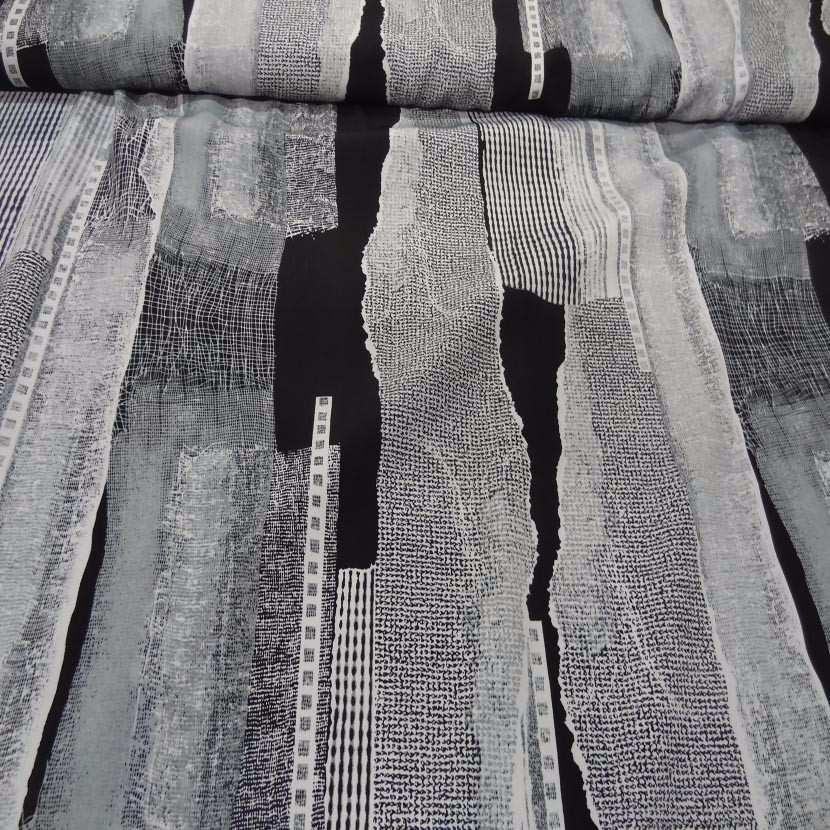 Belle microfibre imprime gris blanc noir2