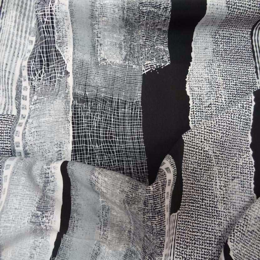 Belle microfibre imprime gris blanc noir4