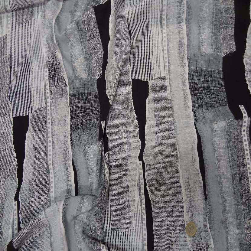 Belle microfibre imprime gris blanc noir6