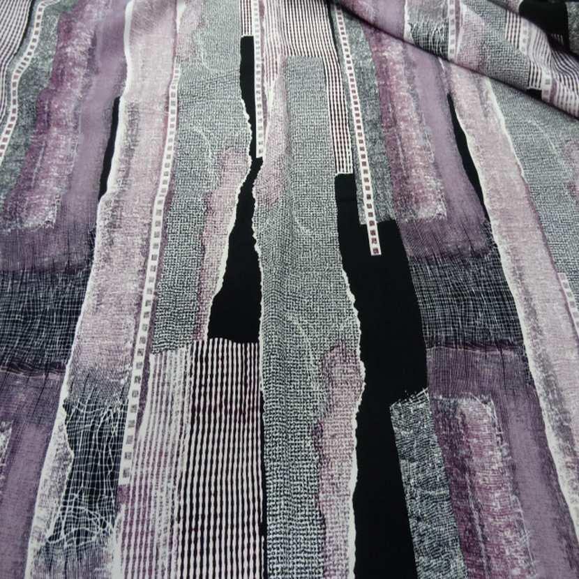 Belle microfibre imprime violet noir