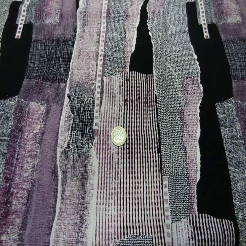 Belle microfibre imprime violet noir06