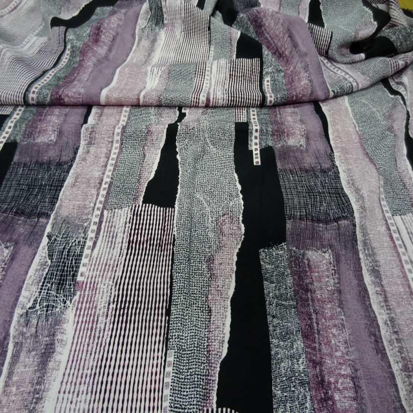 Belle microfibre imprime violet noir6