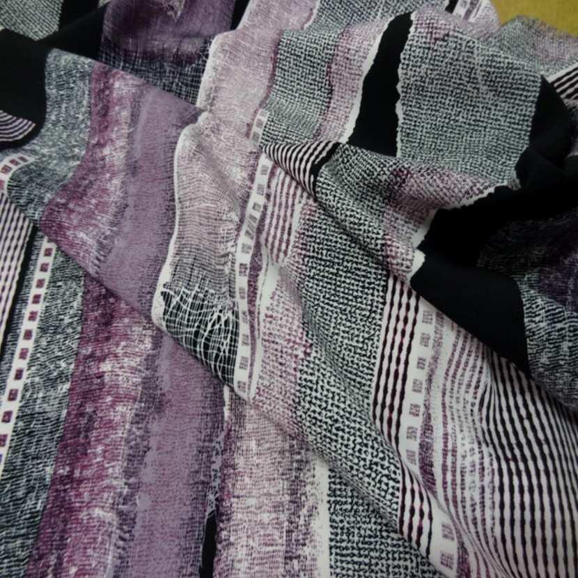 Belle microfibre imprime violet noir9