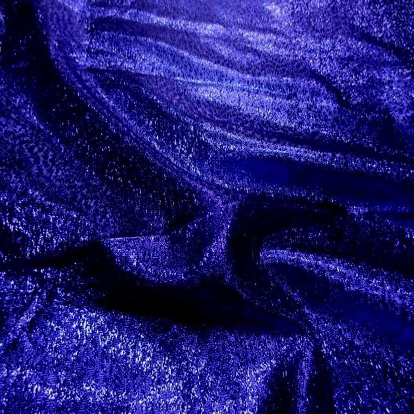 Belle qualite de tissu lame lurex bleu