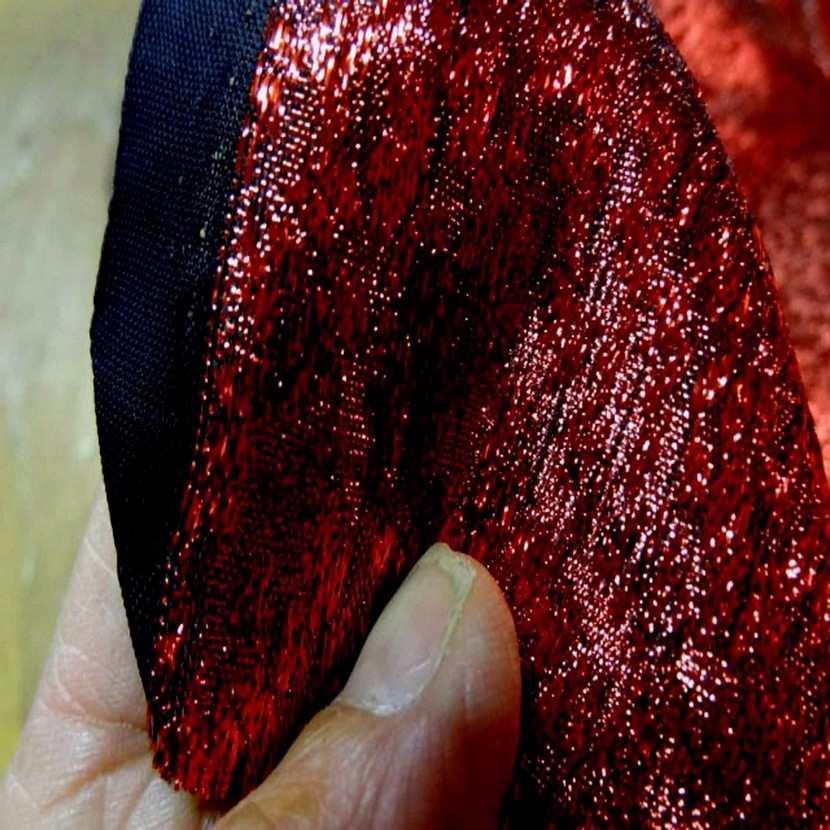 Belle qualite de tissu lame rouge6