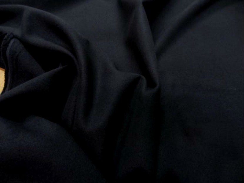 Caban imitation drap de laine noir 1 1