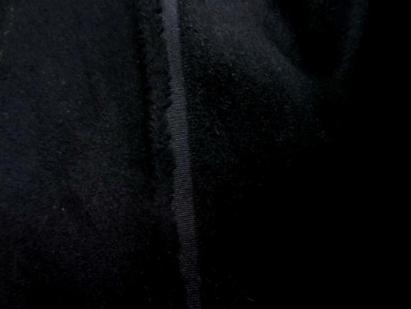 Caban imitation drap de laine noir 2 1
