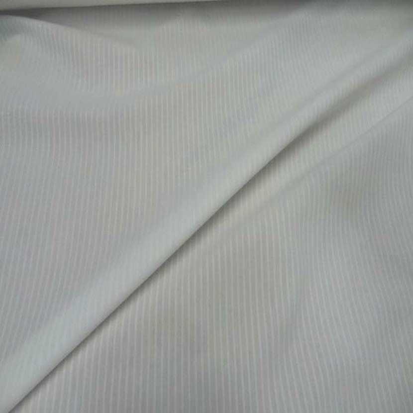 Coton blanc faconne rayures8