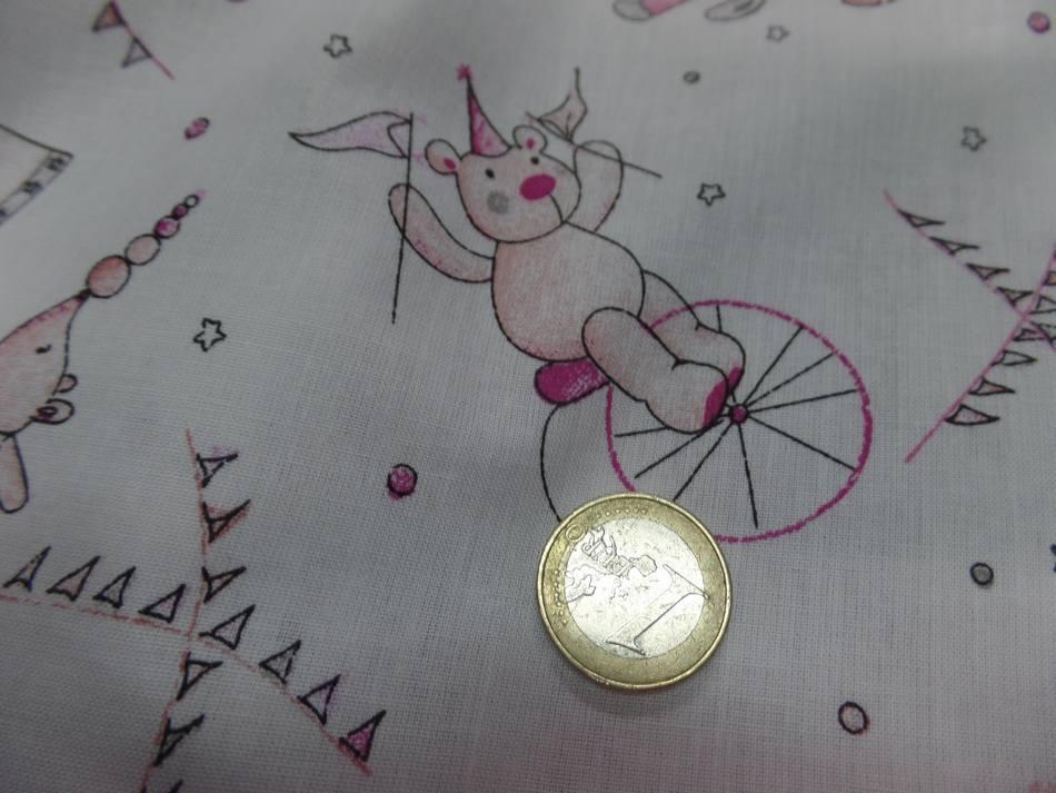 Coton blanc imprime enfant ton rose gris02