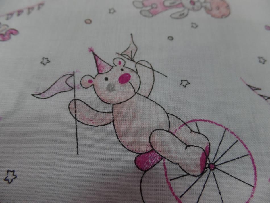 Coton blanc imprime enfant ton rose gris8