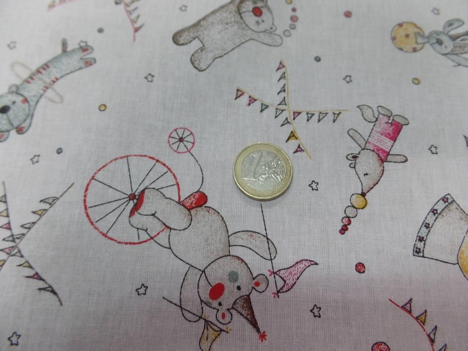 Coton blanc imprime enfant ton rouge jaune bleu1