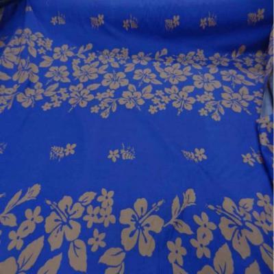 Coton bleu a motifs hawaien