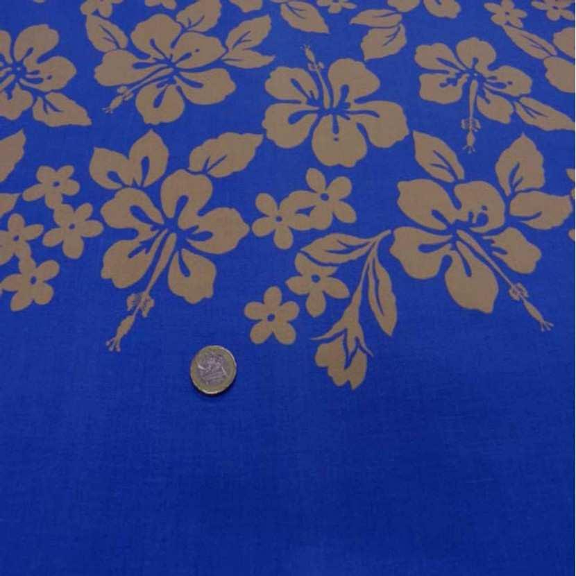 Coton bleu a motifs hawaien2
