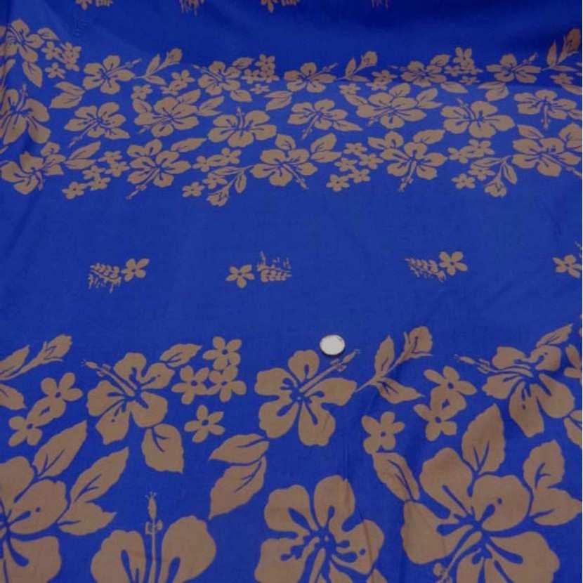 Coton bleu a motifs hawaien6