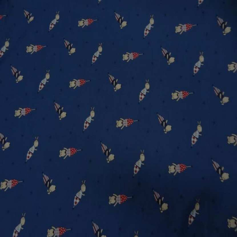 Coton bleu imprime enfant