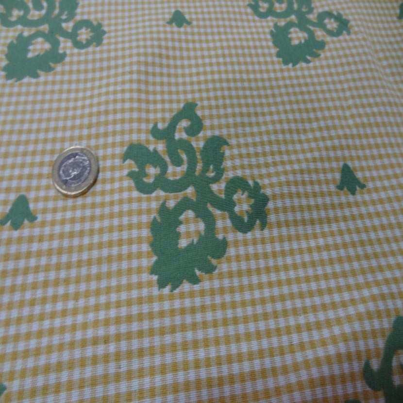Coton d ameublement double face vert vichy jaune et blanc7