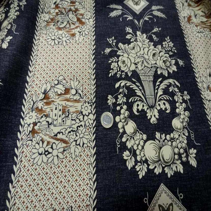 Coton d ameublement ecrue bleu fonce4