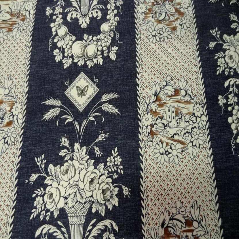 Coton d ameublement ecrue bleu fonce6