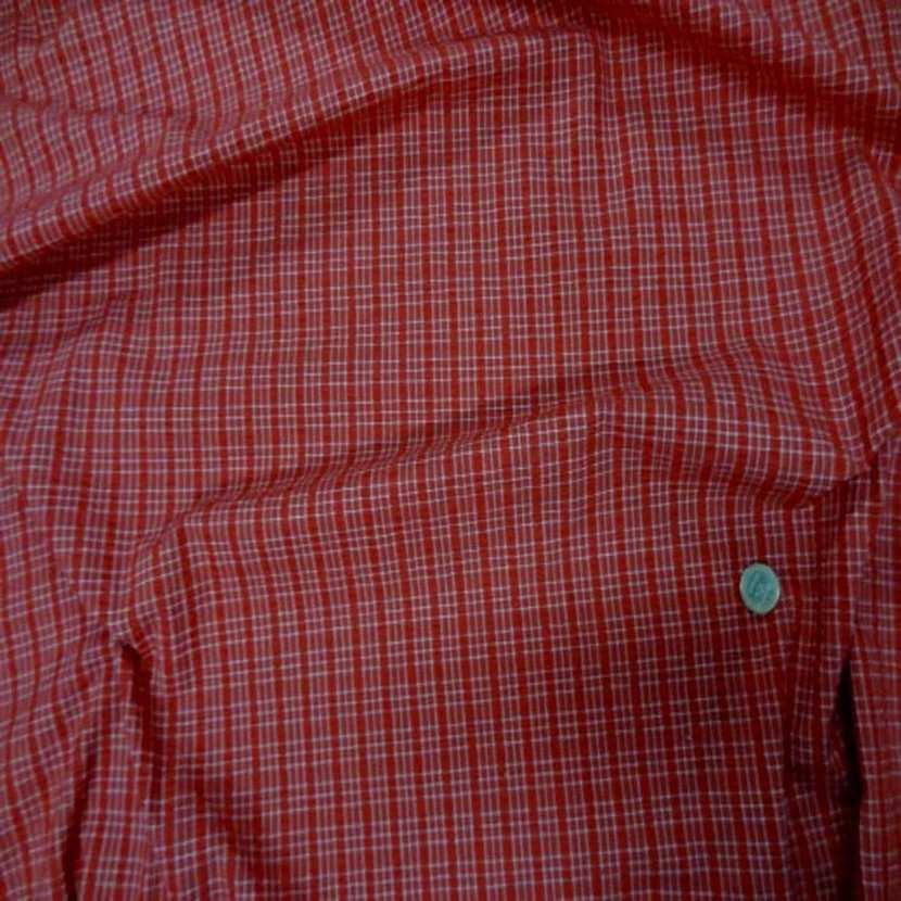 Coton extensible imprime rayure rouge blanc2