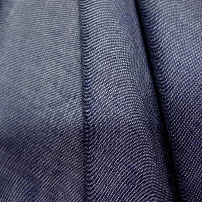 Coton fin gris bleu