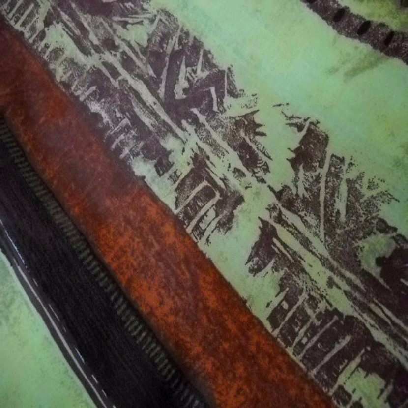 Coton fin imprime tribu africaine a rayures en 2 80m de large8