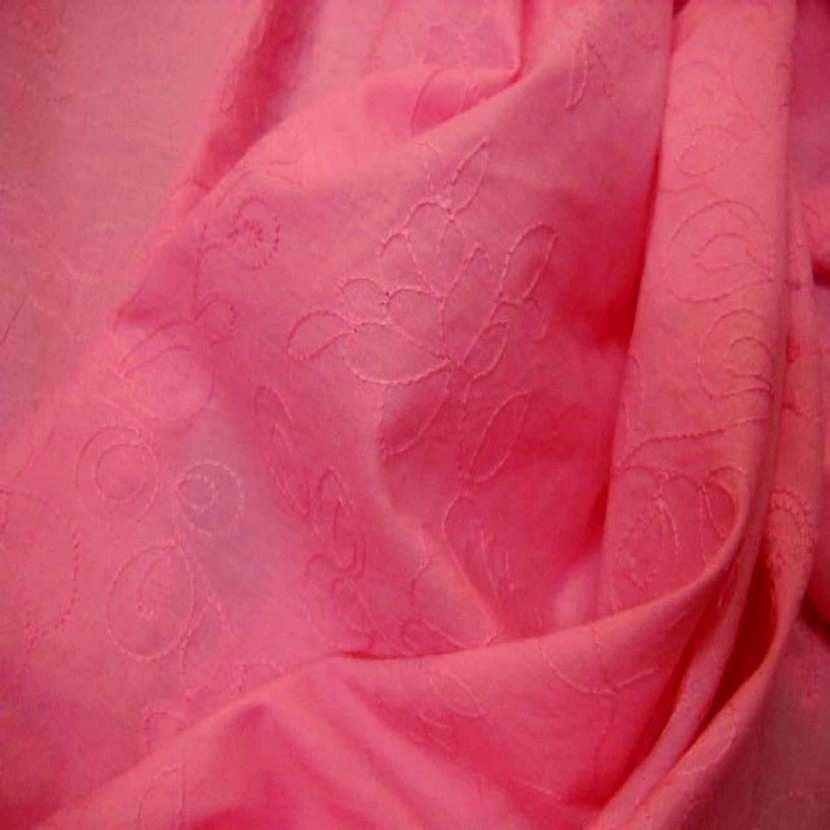 Coton fin rose brode6