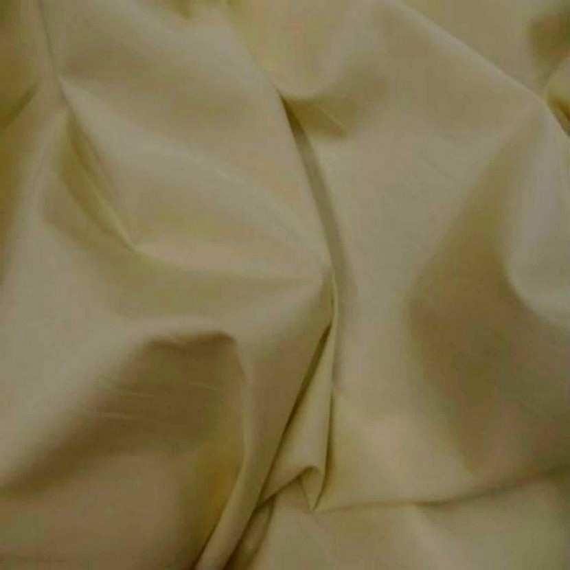 Coton fin uni jaune paille