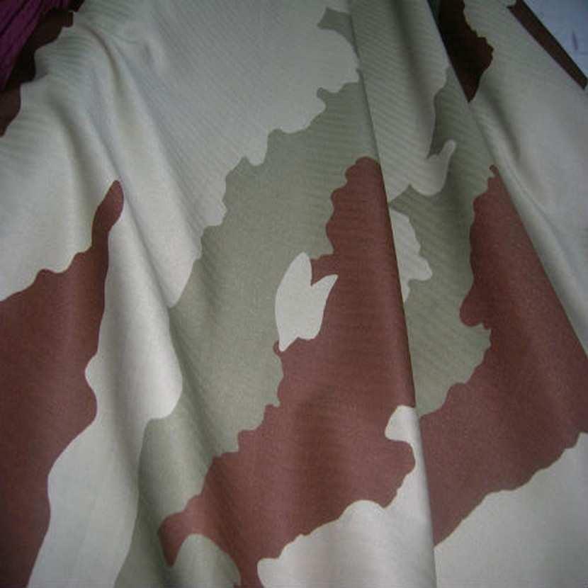 Coton imprime armee beige kaki et marron5