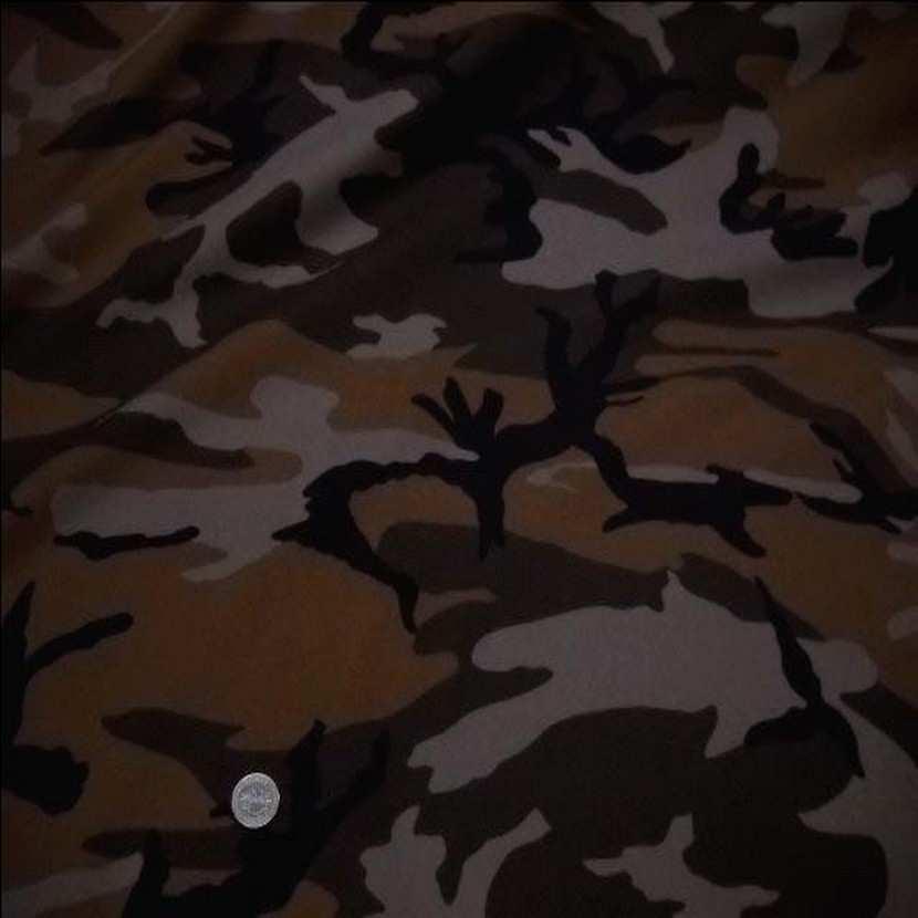 Coton imprime armee camouflage ton marron8