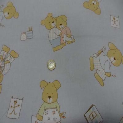 Coton imprime enfant gris