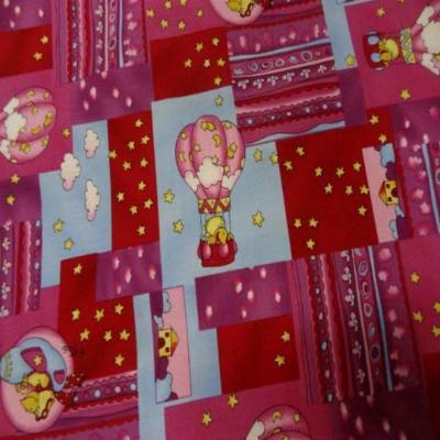 Coton imprime enfant rose rouge imprime canard volant en 1 40m