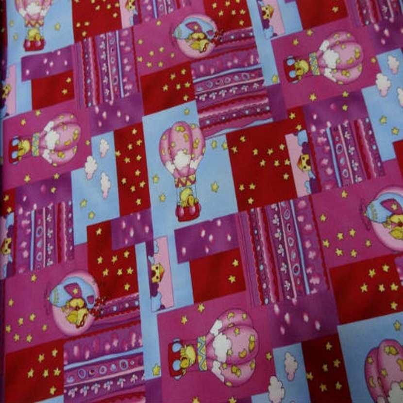 Coton imprime enfant rose rouge imprime canard volant en 1 40m5